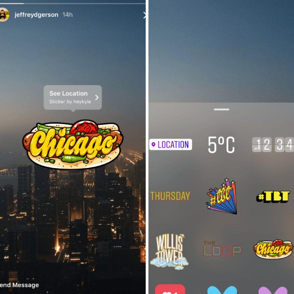 instagram stories stickers geo