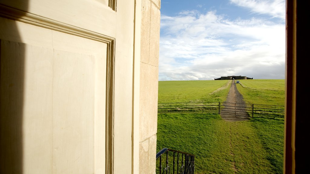 Mussenden Temple showing tranquil scenes and a temple or place of worship