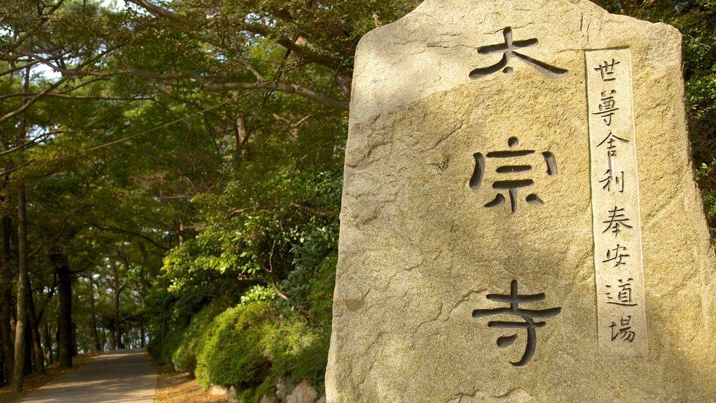 Parque Taejongdae que incluye un monumento y un jardín