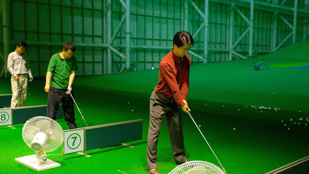Shinsegae Centum City which includes interior views and golf as well as a small group of people