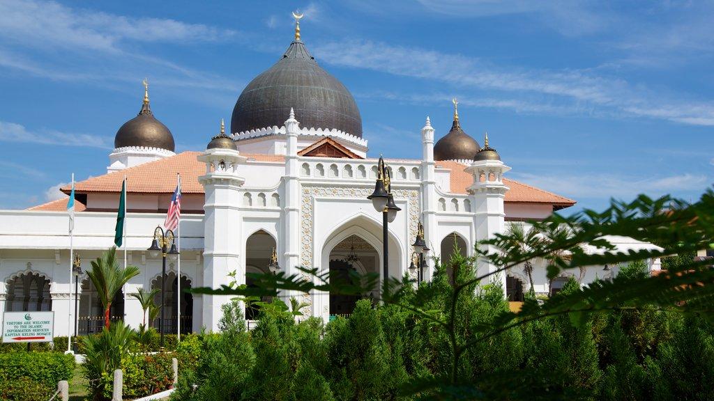 Mezquita Kapitan Keling mostrando elementos religiosos, una mezquita y patrimonio de arquitectura
