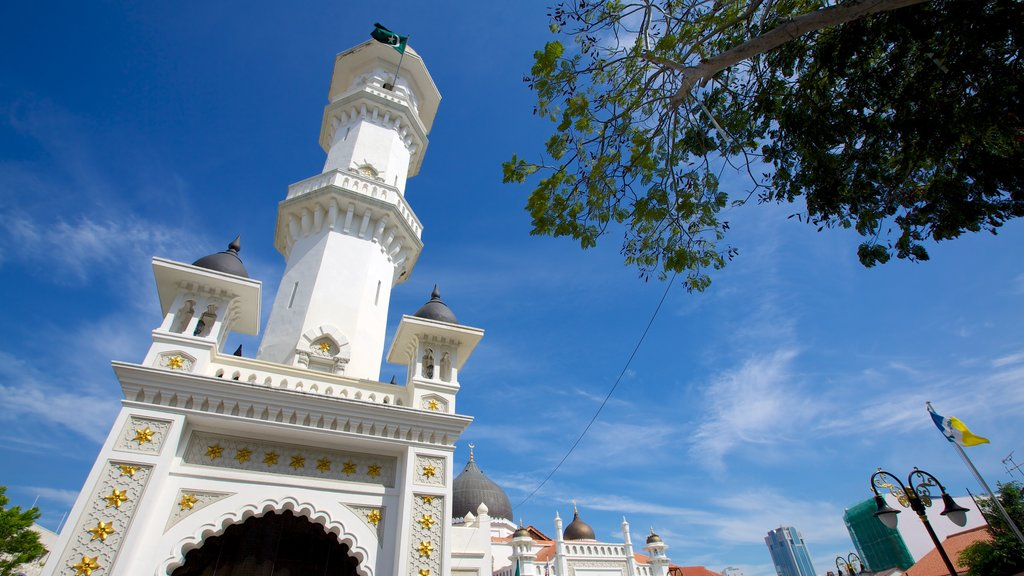 Kapitan Keling Mosque showing a mosque, heritage architecture and religious elements