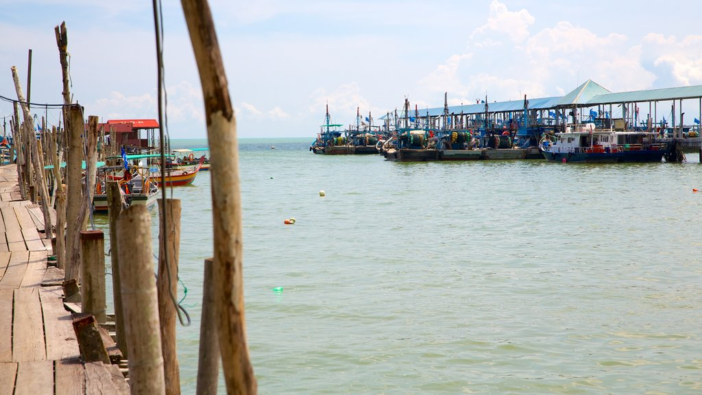 Penang National Park featuring general coastal views and a marina