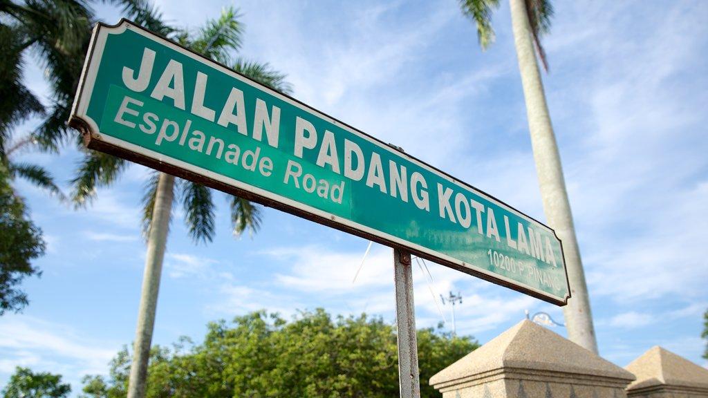 Penang City Hall showing signage