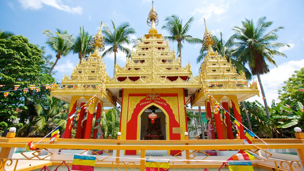 Dhammikarama Burmese Buddhist Temple featuring a temple or place of worship and religious elements