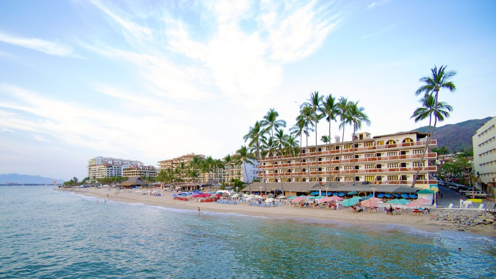 Bay of Banderas which includes a coastal town, a luxury hotel or resort and tropical scenes