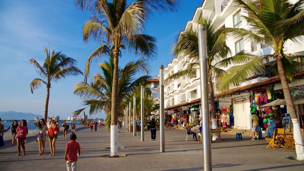 Malecon which includes a coastal town, markets and street scenes