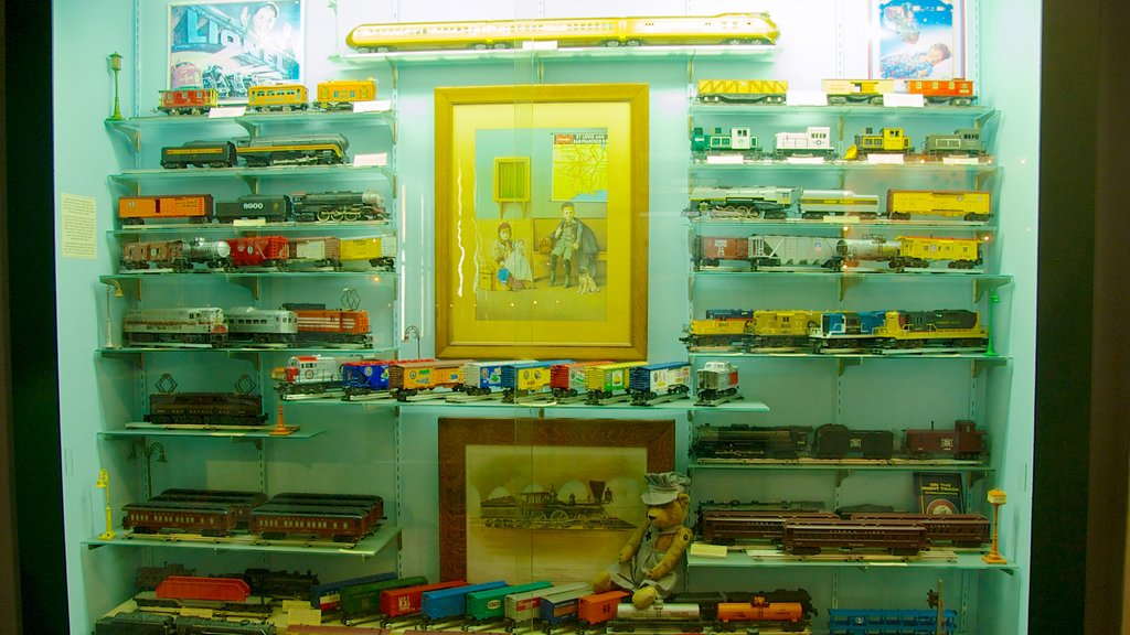 Toy and Miniature Museum which includes railway items and interior views