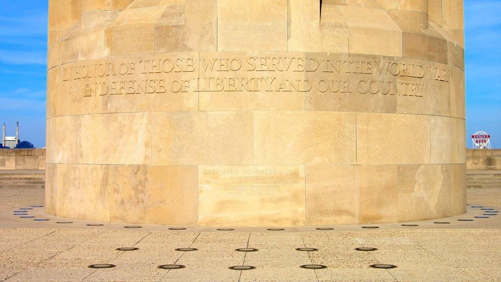 Liberty Memorial caracterizando um memorial e sinalização