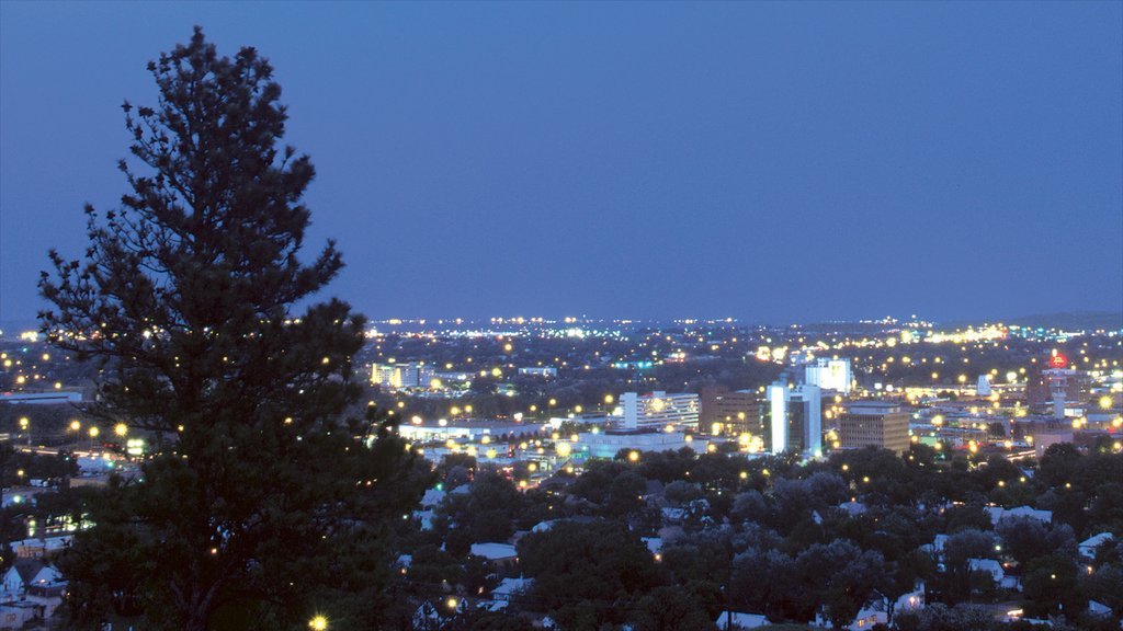 Rapid City featuring a city and night scenes