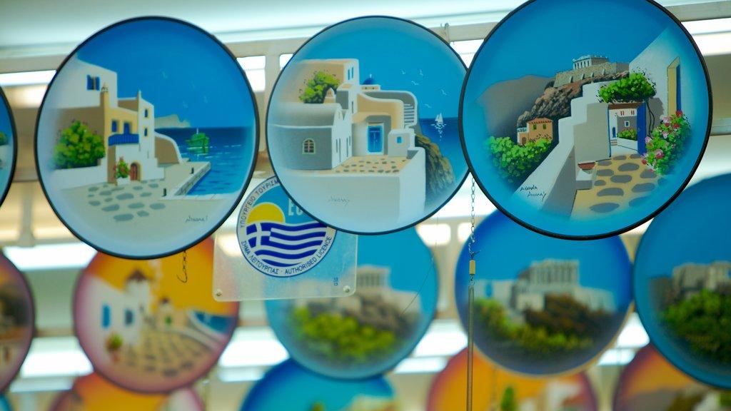Atenas que incluye vistas interiores, compras y mercados