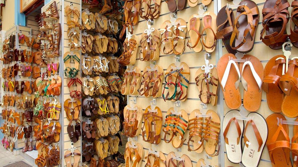 Atenas mostrando compras, mercados y vistas interiores