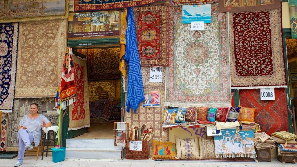 Atenas ofreciendo escenas urbanas, mercados y compras