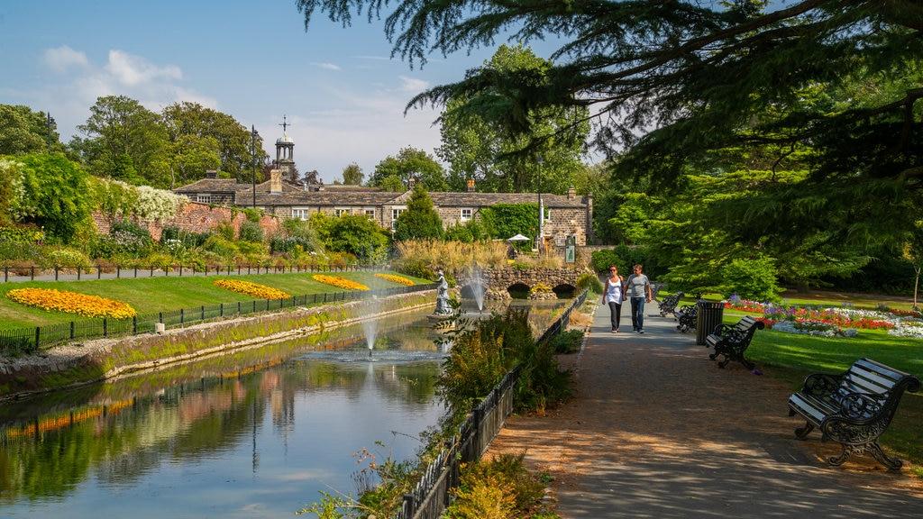 Canal Gardens que incluye un río o arroyo, un jardín y una fuente