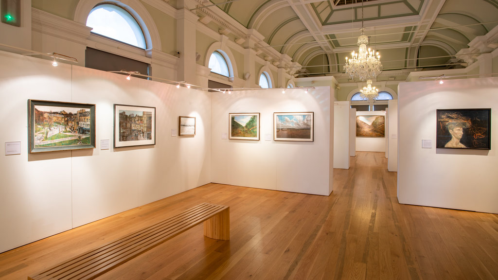 Mercer Art Gallery which includes interior views and art