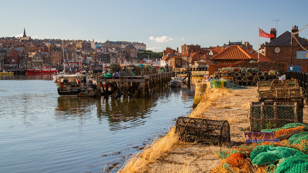 Whitby featuring a bay or harbor and landscape views