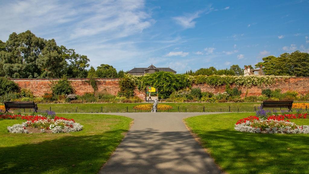 Canal Gardens que incluye un jardín y flores
