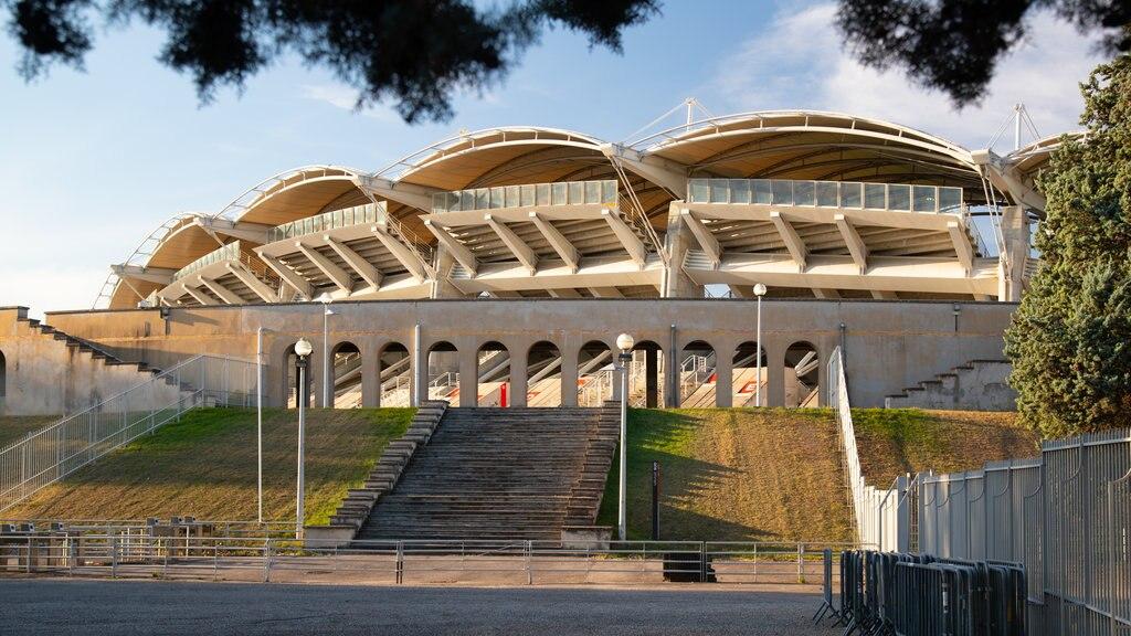Stade Gerland showing modern architecture
