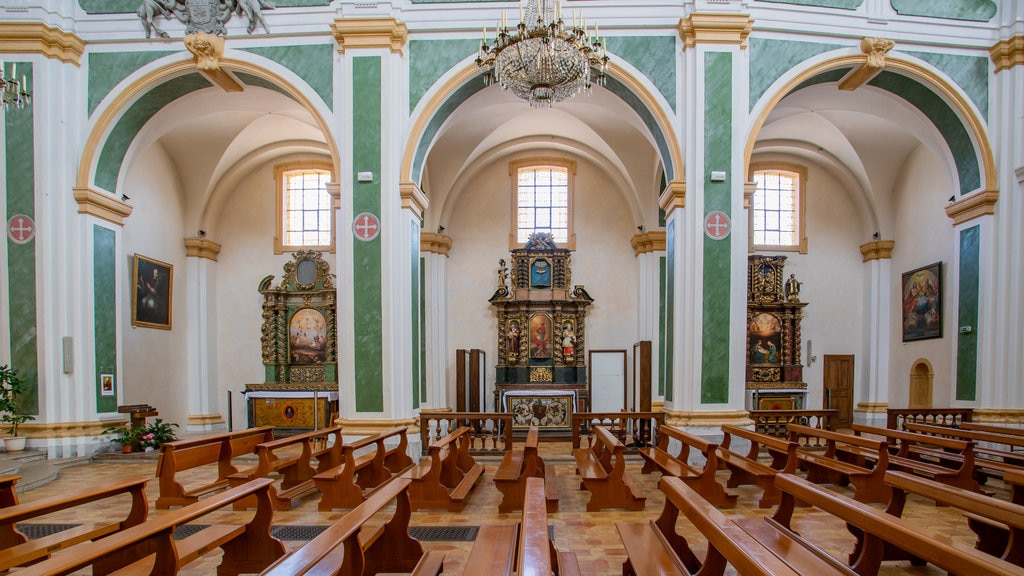 Church of St. Francis showing heritage elements, interior views and a church or cathedral