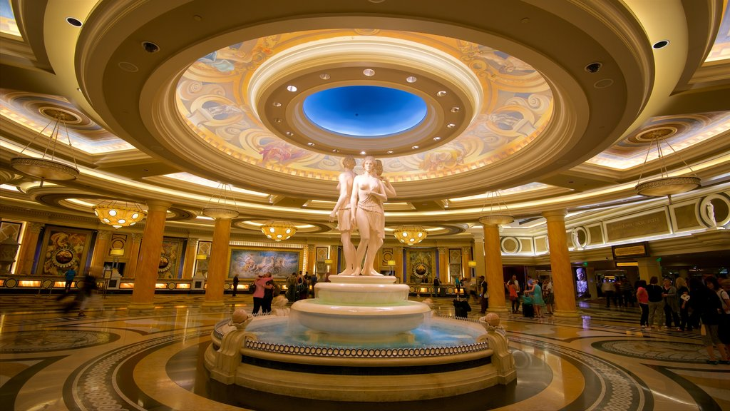 Las Vegas showing heritage elements, a statue or sculpture and a hotel