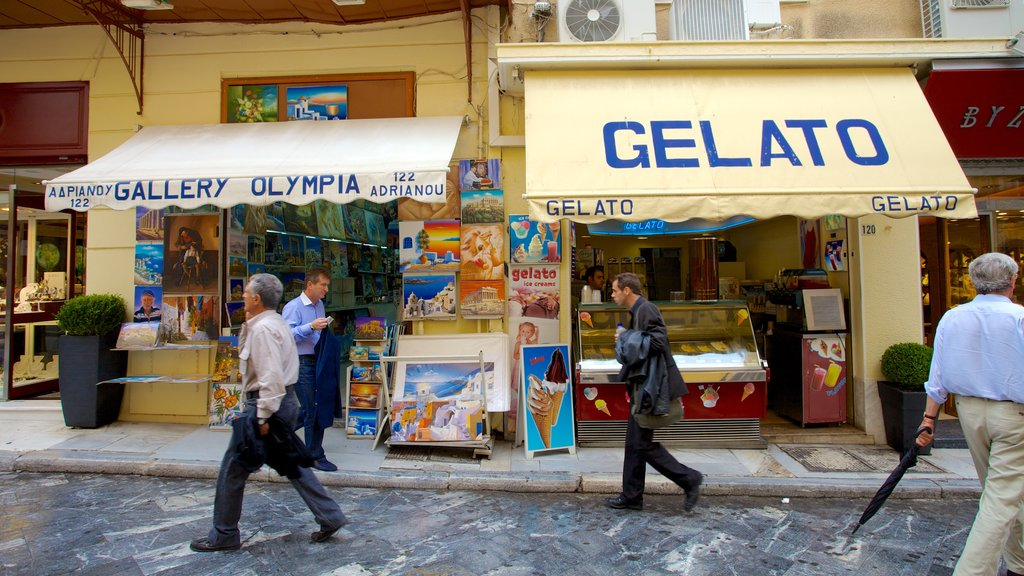 Athens featuring shopping, markets and signage