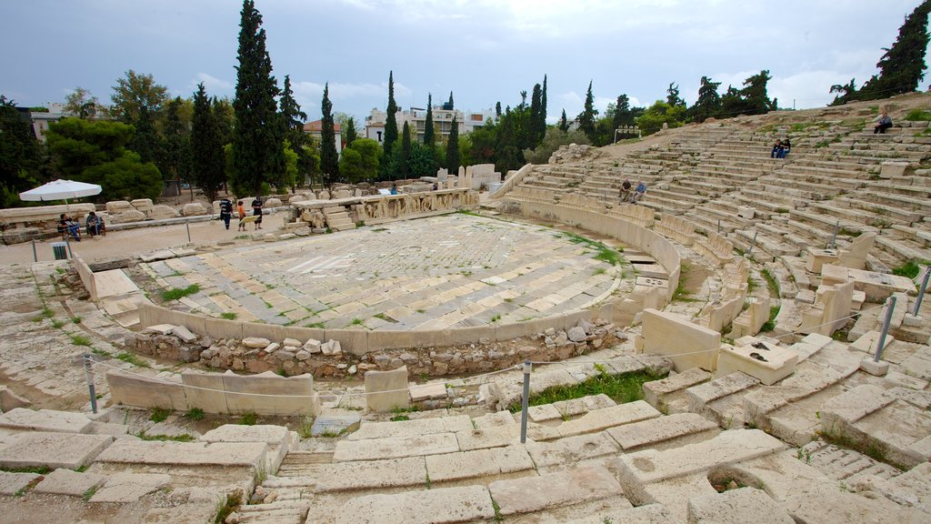 Acropolis featuring theater scenes and building ruins