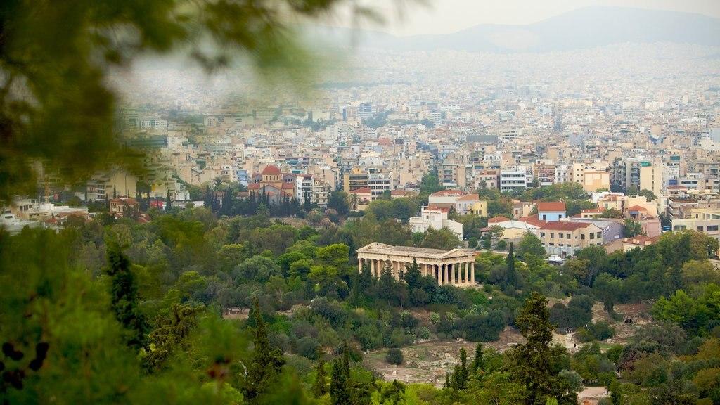 Acropolis showing a city and landscape views