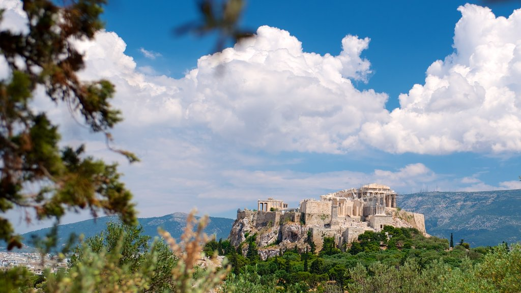 Acropolis which includes heritage architecture and landscape views