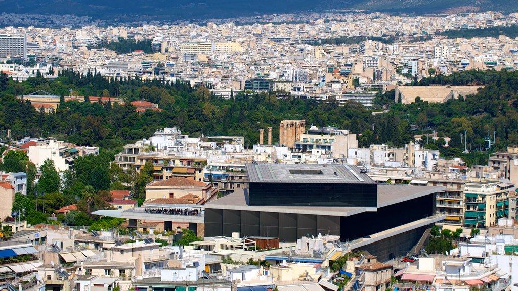 Acropolis Museum showing city views
