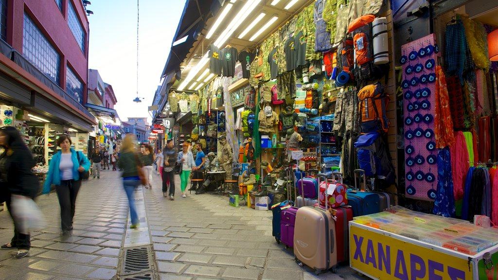 Monastiraki Flea Market which includes street scenes, a city and shopping