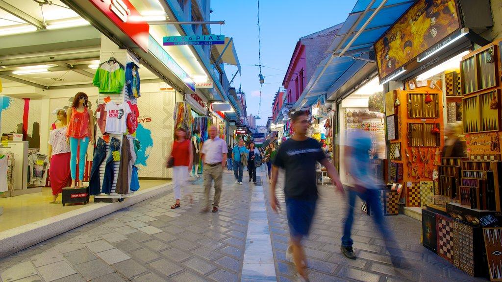 Monastiraki Flea Market which includes markets, shopping and street scenes
