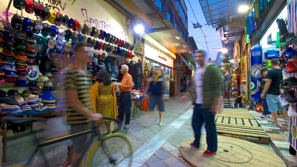 Monastiraki Flea Market featuring shopping, street scenes and markets