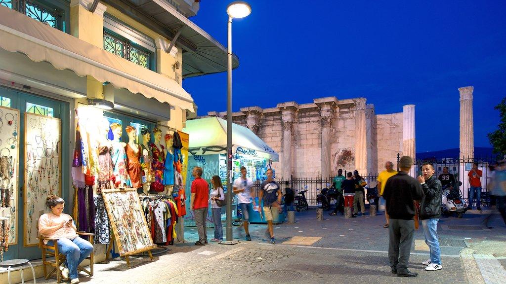 Monastiraki Flea Market which includes shopping, markets and street scenes