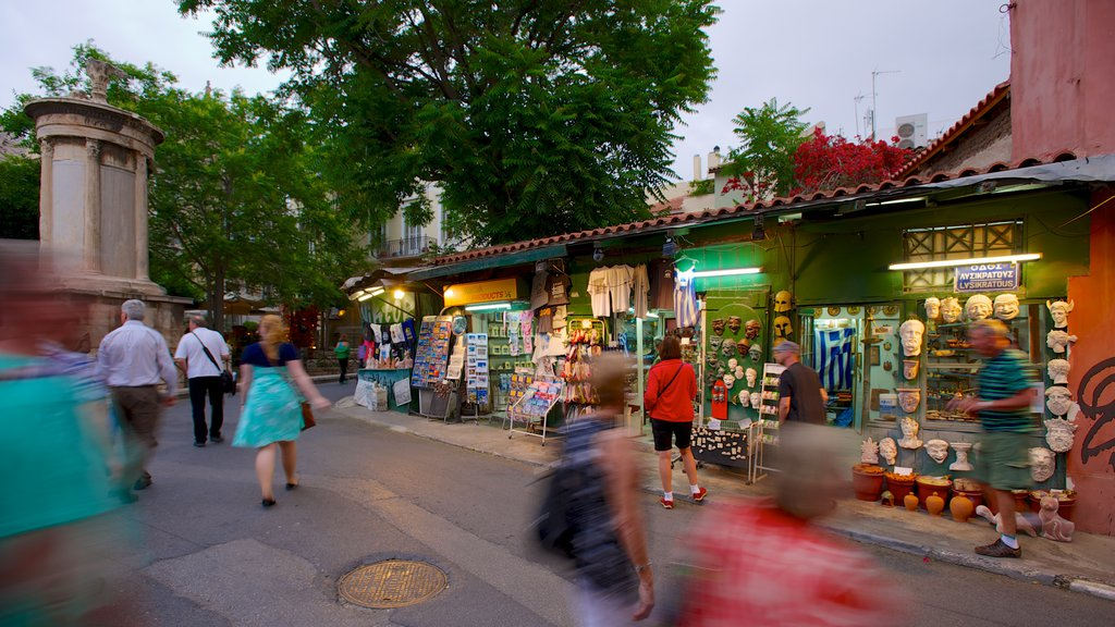 Plaka which includes shopping, markets and street scenes