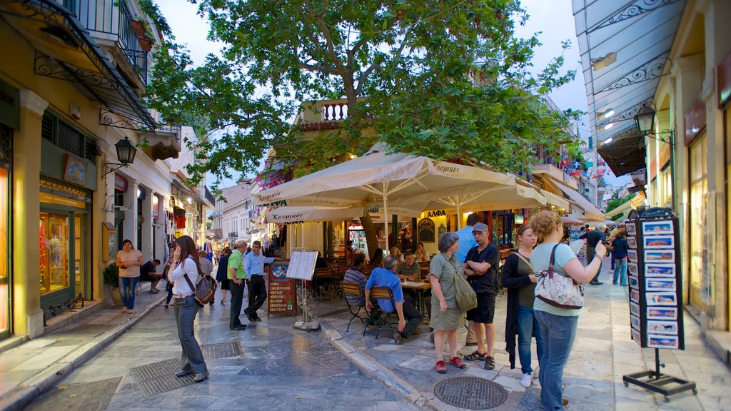 Plaka which includes street scenes, shopping and markets