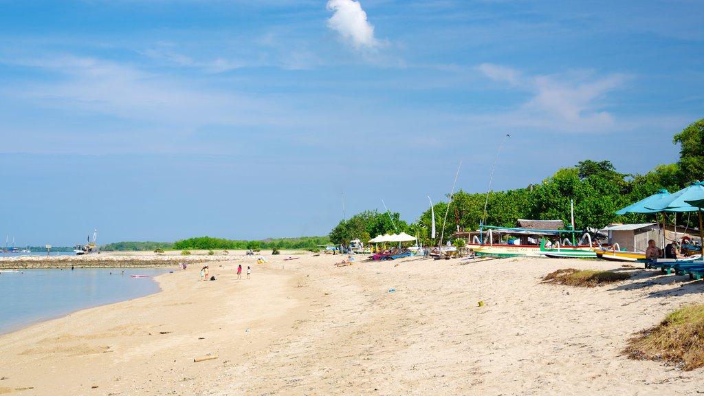 Sanur Beach featuring a beach