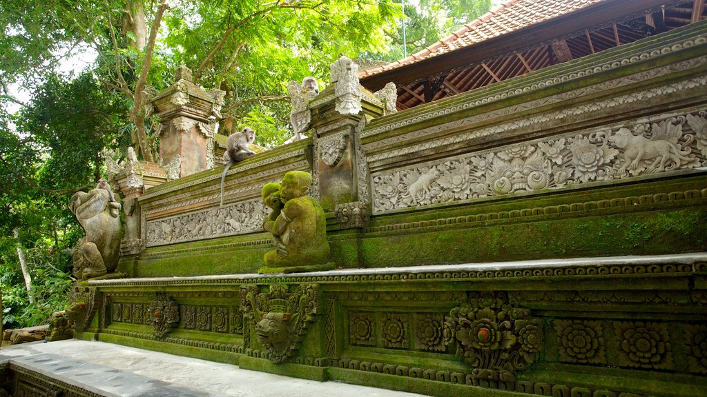 Ubud Monkey Forest which includes a temple or place of worship and heritage architecture