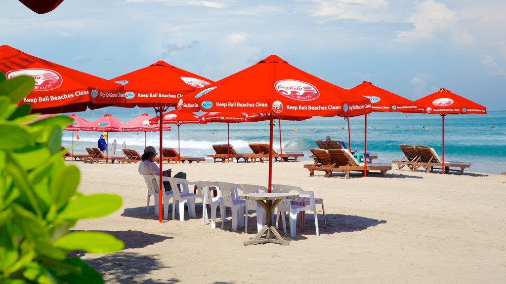 Kuta Beach which includes a sandy beach