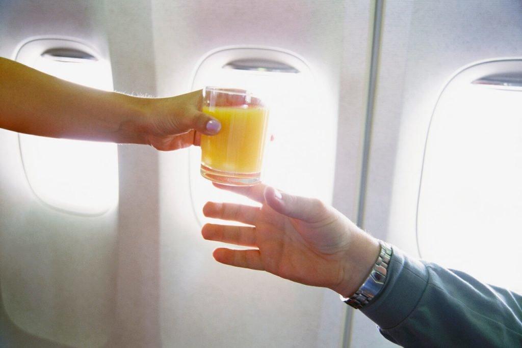 boire en avion