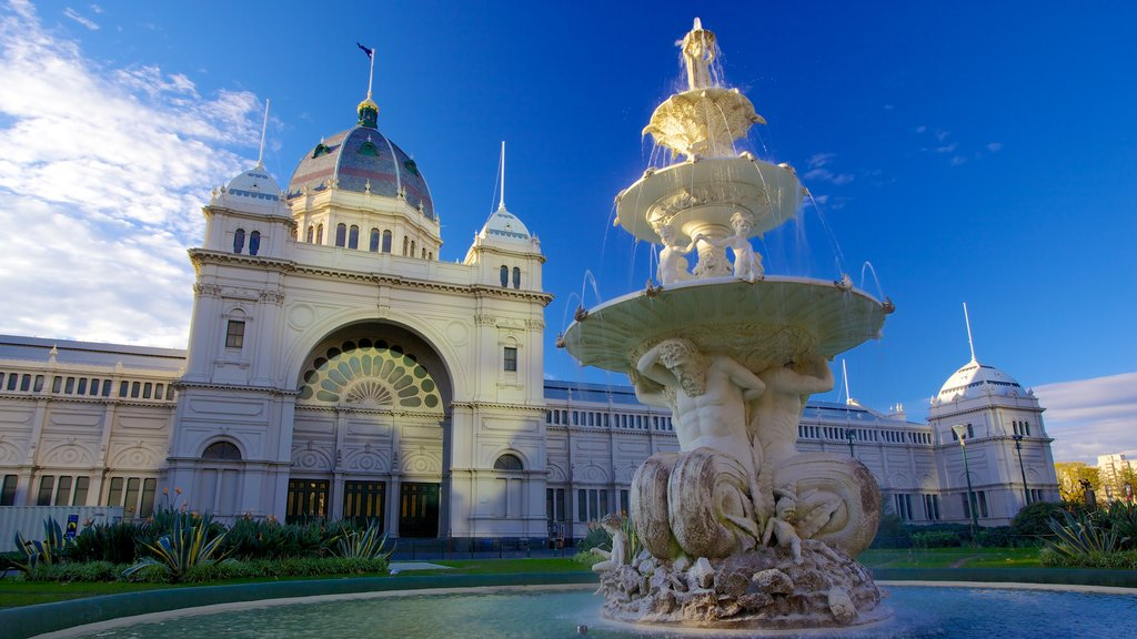 Carlton Gardens which includes heritage architecture, a city and a garden