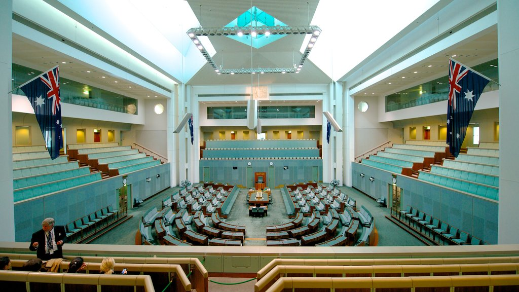 Parliament House which includes modern architecture, an administrative buidling and interior views