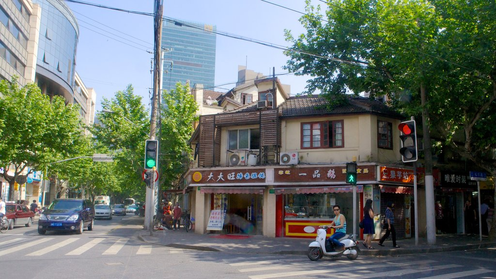 French Concession featuring street scenes and a city