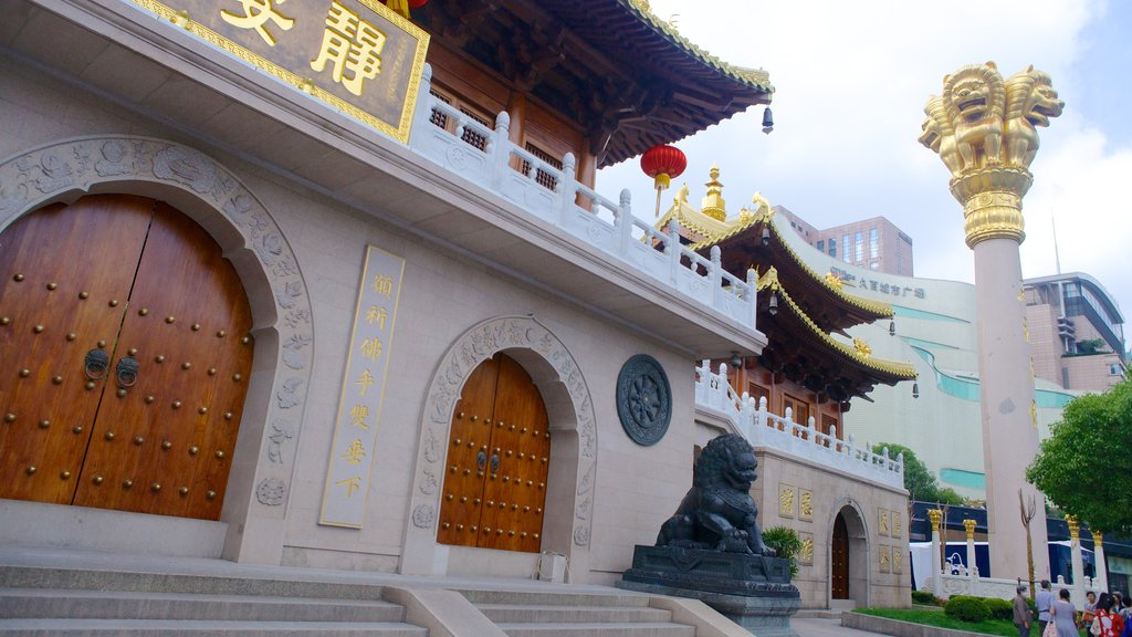 Jing An Temple showing religious aspects and a temple or place of worship