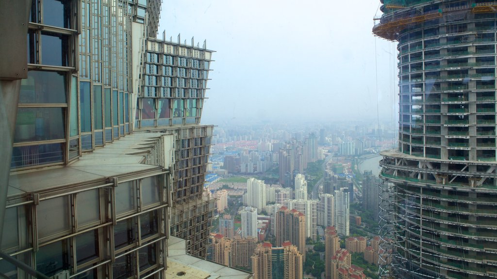 Jin Mao Tower showing a city and central business district