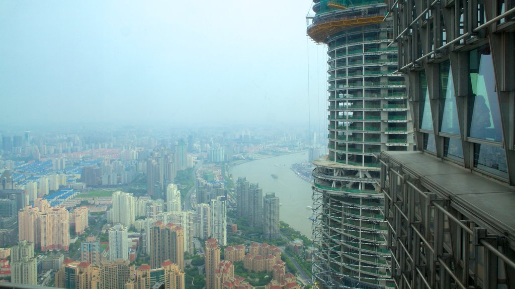 Jin Mao Tower which includes cbd and a city