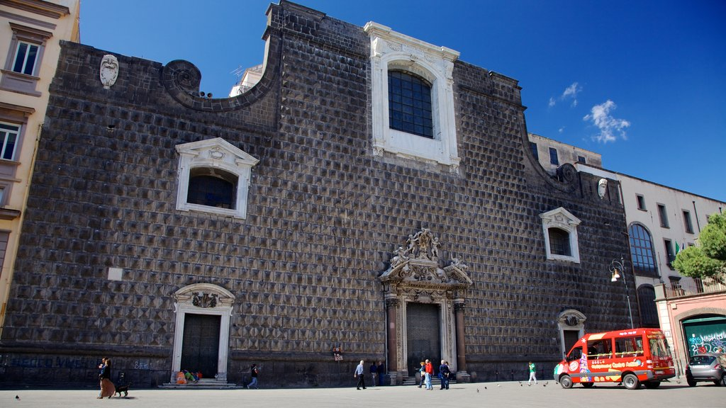 Piazza del Municipio featuring street scenes