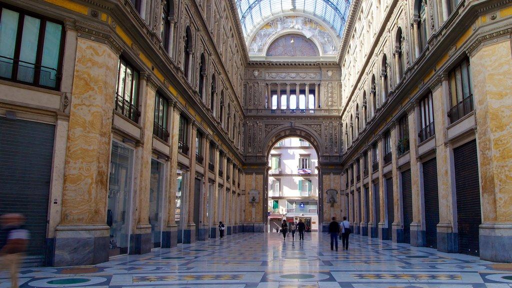 Galleria Umberto I featuring interior views