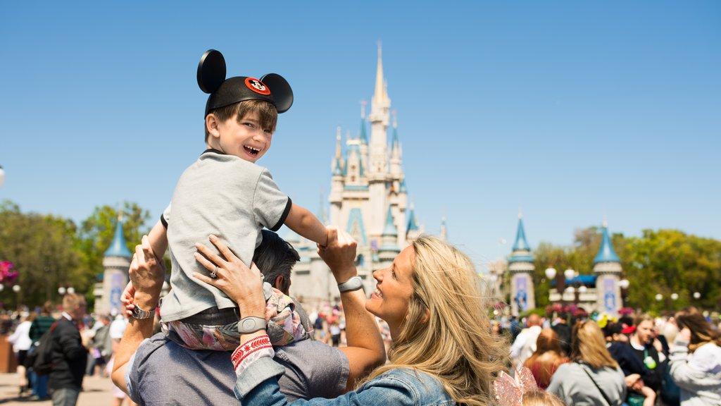 Magic Kingdom® Park featuring rides as well as a family