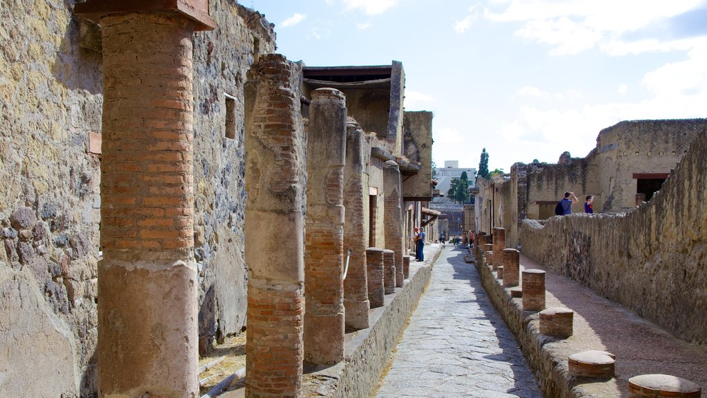 Ercolano featuring heritage architecture and a ruin