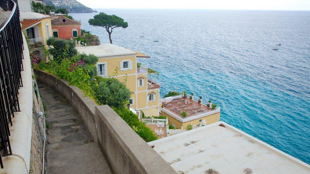 Positano showing general coastal views and a coastal town
